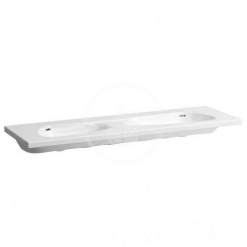 Laufen Palomba Collection Dvojumyvadlo nábytkové 1600x500 mm, s LCC, bílá H8148094001091