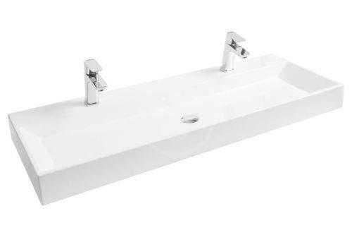 RAVAK Natural Umyvadlo Duo, 1200x450 mm, se 2 otvory pro umyvadlové baterie, bílá XJO01212000