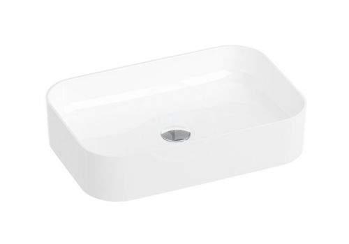 RAVAK Ceramic Umyvadlo Slim na desku, 550x370 mm, bílá XJX01155002
