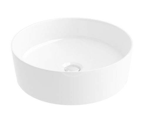 RAVAK UNI Umyvadlo Slim na desku, průměr 400 mm, bílá XJX01140002