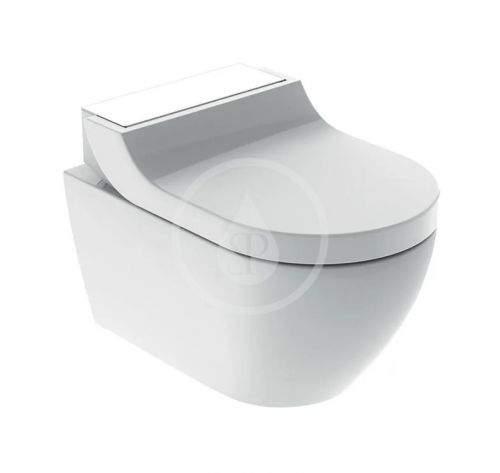 GEBERIT AquaClean Elektronický bidet Tuma Comfort s keramikou, Rimfree, SoftClosing, bílé sklo 146.292.SI.1
