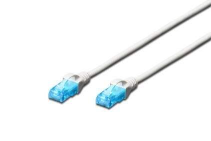 Digitus Ecoline Patch Cable, UTP, CAT 5e, AWG 26/7, bílý 10m, 1ks