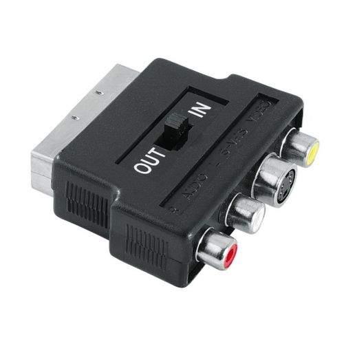 Hama spol s r.o. Hama redukce SCART vidlice - 3 cinch AV + S-video zásuvka, IN/OUT