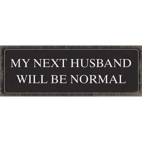 Xavax Next Husband, dekorační tabulka na stěnu, 39x14 cm