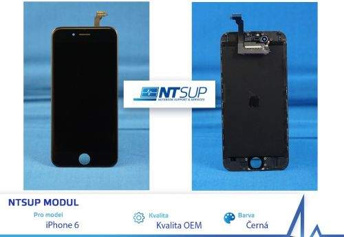 NTSUP LCD modul iPhone 6 černý kvalita B