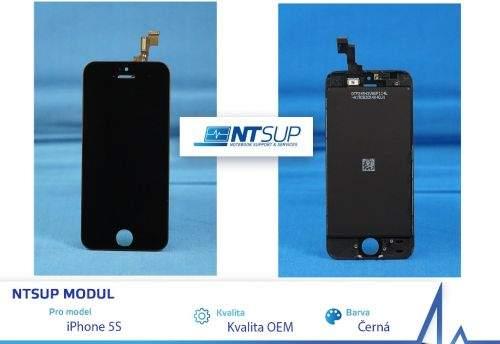 NTSUP LCD modul iPhone 5S černý kvalita B