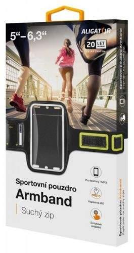 Sportovní pouzdro ALIGATOR Armband černo-žluté
