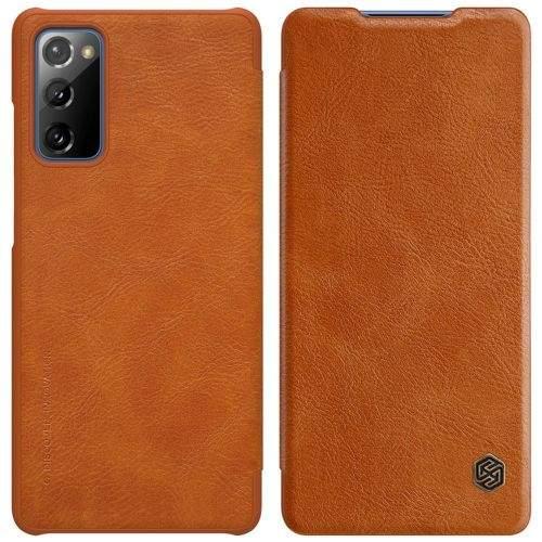 NONAME Nillkin Qin Book Pouzdro Samsung S20 FE Brown