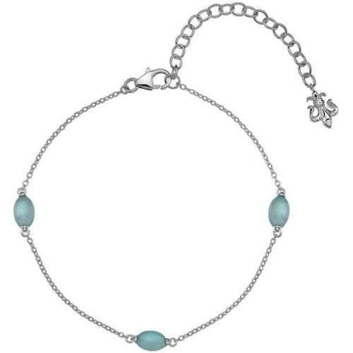 Hot Diamonds Stříbrný náramek pro narozené v září Anais modrý achát AB009