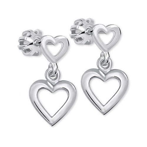 Brilio Silver Romantické náušnice ze stříbra 431 001 02610 04