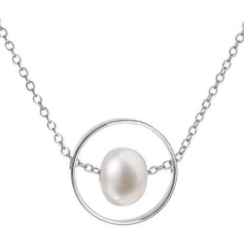 Evolution Group Stříbrný náhrdelník s pravou perlou Pavona 22019.1 (řetízek, přívěsek) stříbro 925/1000
