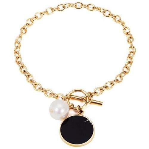 JwL Luxury Pearls Ocelový náramek s pravou perlou JL0482CH