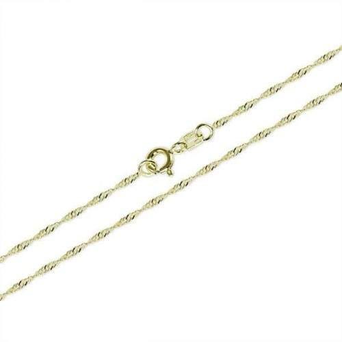 Brilio Zlatý dámský náramek Lambáda 18 cm 261 115 00273
