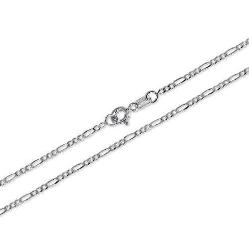Brilio Silver Jemný řetízek ze stříbra Figaro 42 cm 471 086 00168 04 stříbro 925/1000