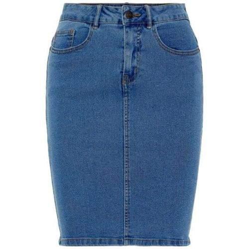 Vero Moda Dámská sukně VMHOT NINE 10193076 Medium Blue Denim (Velikost XS)