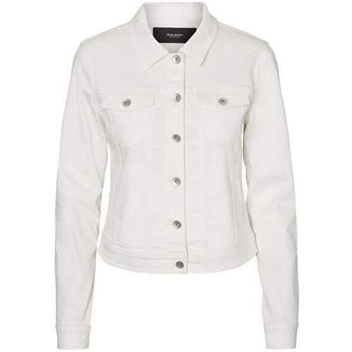 Vero Moda Dámská džínová bunda VMHOT SOYA 10193085 Bright White (Velikost XS)