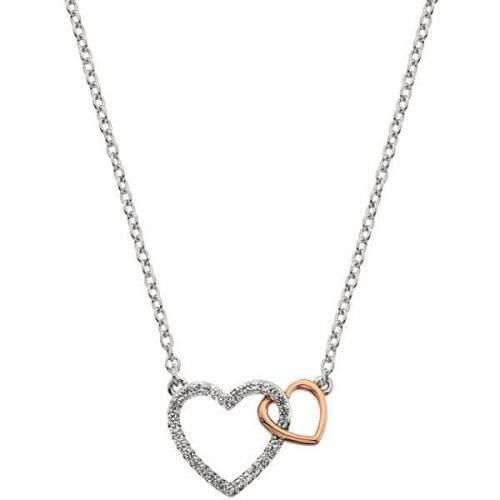 Hot Diamonds Stříbrný náhrdelník s pravým diamantem Flora DP732 stříbro 925/1000