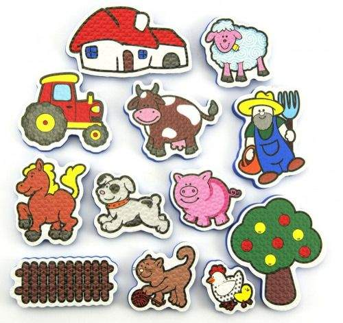 Teddies BABY Vodolepky Moje první zvířátka - farma