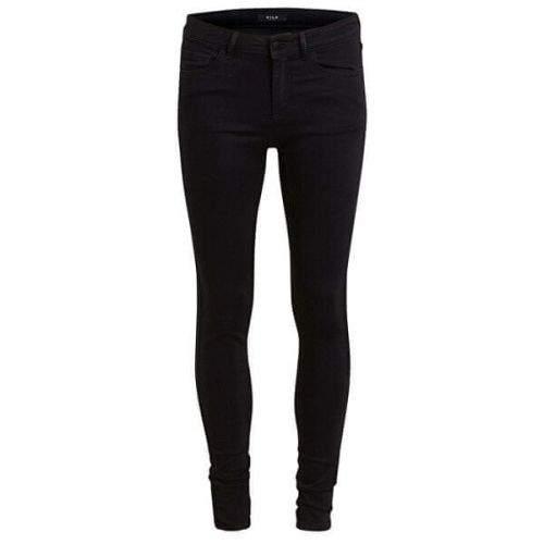 VILA Dámské džíny Vicommit Rwss 5P Ju Pant-Noos Black (Velikost L)
