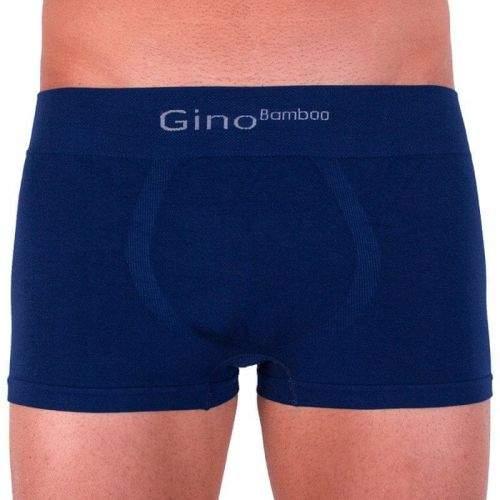 Gino Pánské boxerky bezešvé bambusové modré (53004) - velikost M