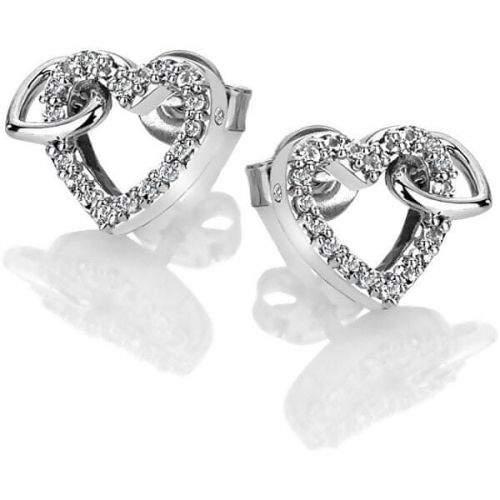 Hot Diamonds Třpytivé náušnice s pravým diamantem Flora DE605