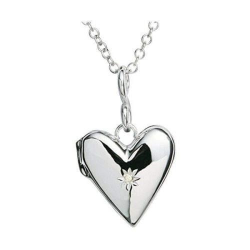 Hot Diamonds Zamilovaný náhrdelník s diamantem Just Add Love DP142 (řetízek, přívěsek) stříbro 925/1000