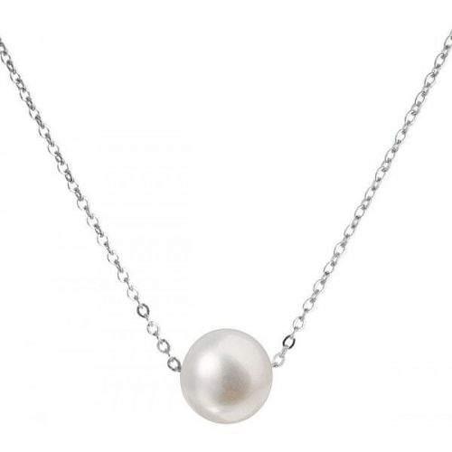 Evolution Group Stříbrný náhrdelník s pravou perlou Pavona 22023.1 (řetízek, přívěsek) stříbro 925/1000