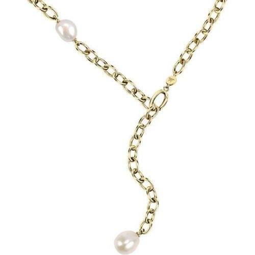 Morellato Pozlacený ocelový náhrdelník s pravými perlami Oriente SARI01