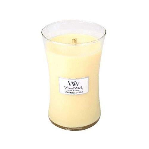 Woodwick Vonná svíčka váza Lemongrass & Lily 609,5 g