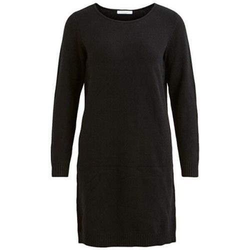 VILA Dámské šaty VIRIL L/S KNIT DRESS - NOOS Black (Velikost XS)