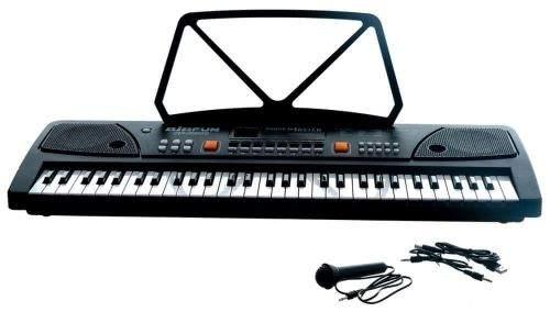 Teddies Piánko velké plast 61 kláves s mikrofonem