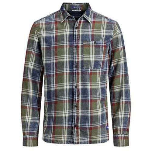 Jack&Jones Pánská košile JORHENRI SHIRT LS ORG Forest Night (Velikost S)