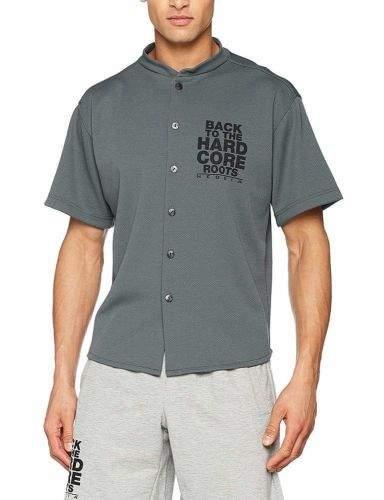 Nebbia 304 HARDCORE Shirt 304 (Grey, M)