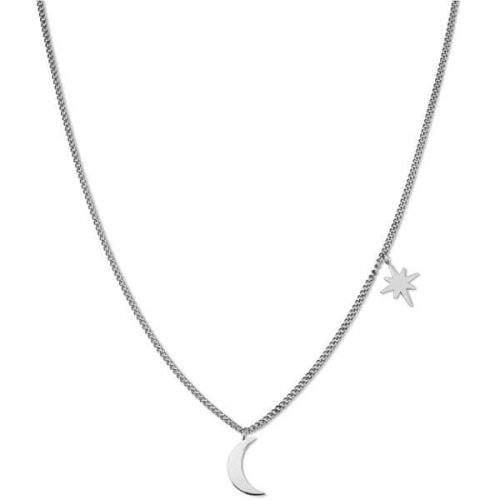 Rosefield Ocelový náhrdelník Moon and Star MSNS-J208