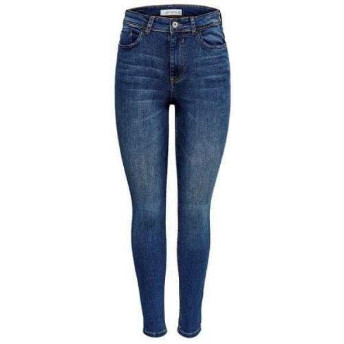 Jacqueline de Yong Dámské skinny džíny JDYJONA 15171475 Medium Blue Denim (Velikost 25/32)