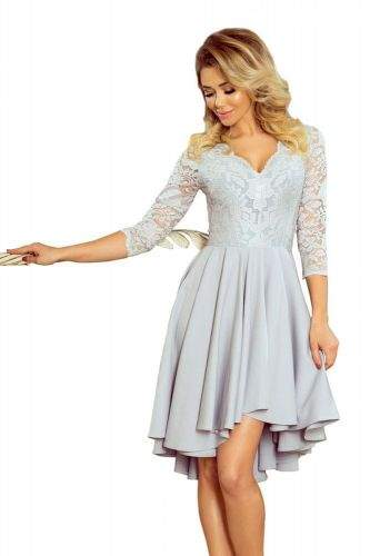 Numoco Dámské šaty 210-9 šedá L