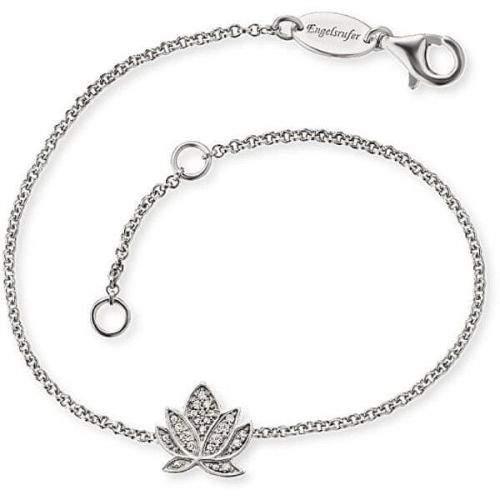Engelsrufer Stříbrný náramek s lotosovým květem ERB-LILLOTUS-ZI