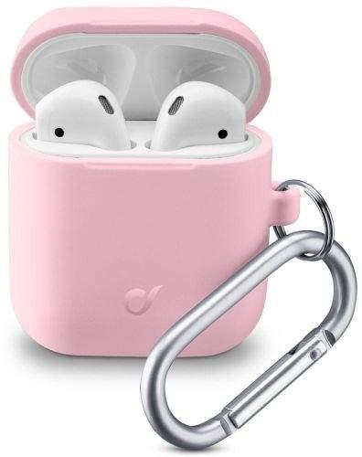 CellularLine Ochranný kryt s karabinou Bounce pro Apple AirPods 1 & 2 BOUNCEAIRPODSP, růžový