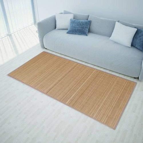 shumee Obdélníková hnědá bambusová rohož / koberec 80 x 200 cm