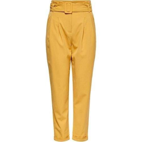 ONLY Dámské kalhoty ONLSICA HW PAPERBAG PANTS PNT Spruce Yellow (Velikost 34)