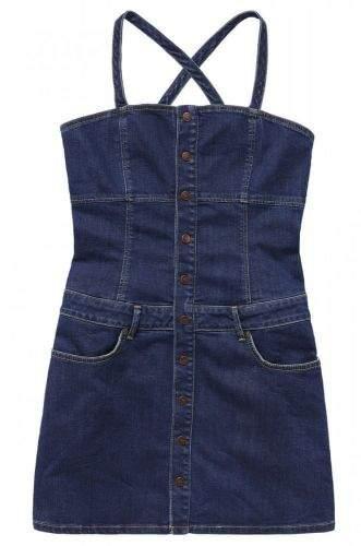 Pepe Jeans dámské šaty Flame PL952698 XS tmavě modrá