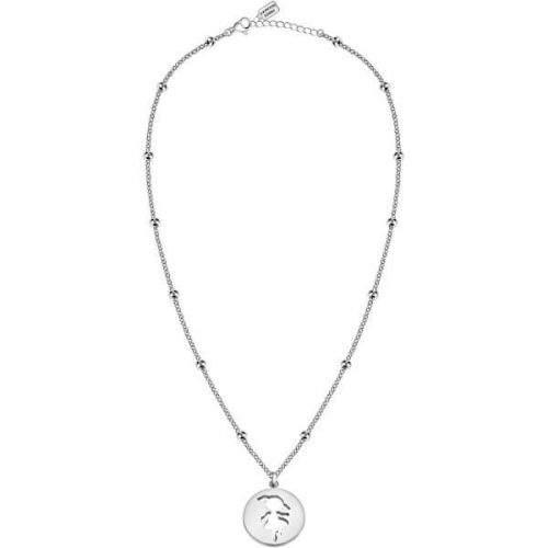 La Petite Story Ocelový náhrdelník s kuličkami Holčička LPS10AQL01