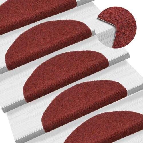 shumee Samolepící nášlapy na schody 15 ks vpichované 65x21x4cm červené
