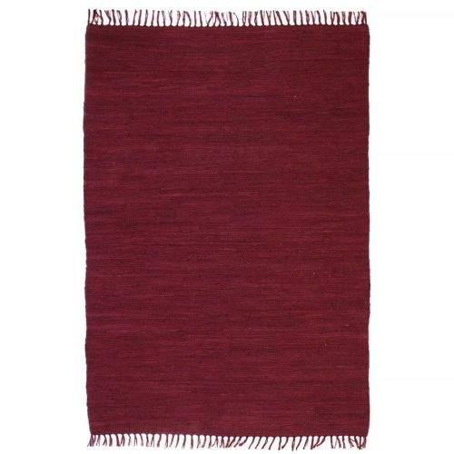 shumee Ručně tkaný koberec Chindi bavlna 80 x 160 cm vínový