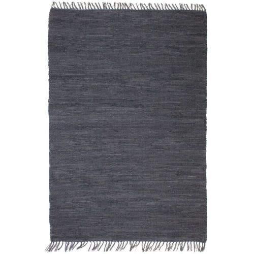 shumee Ručně tkaný koberec Chindi bavlna 160 x 230 cm antracitový