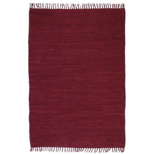 shumee Ručně tkaný koberec Chindi bavlna 200 x 290 cm vínový