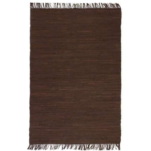 shumee Ručně tkaný koberec Chindi bavlna 200 x 290 cm hnědý