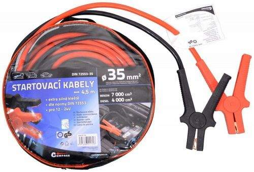 Compass Startovací kabely 35 délka 4,5m TÜV/GS DIN72553