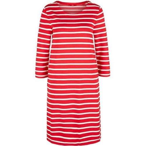 s.Oliver Dámské šaty 14.003.82.2968.31G9 Vibrant coral stripes (Velikost 38)