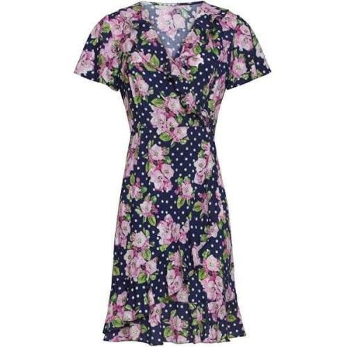 Smashed Lemon Dámské šaty 20102 Navy/Pink (Velikost XS)